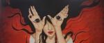 la chica con los ojos en las manos wp
